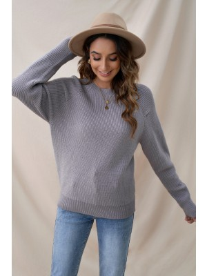Casual Warm Up Solid Knit Autumn Winter Sweater