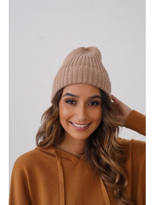 Casual Knit Texture Autumn Winter Beanie in Taupe