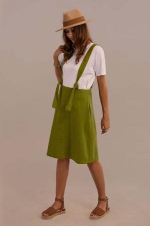 Sleeveless V-neck Natural Summer Linen Jumper