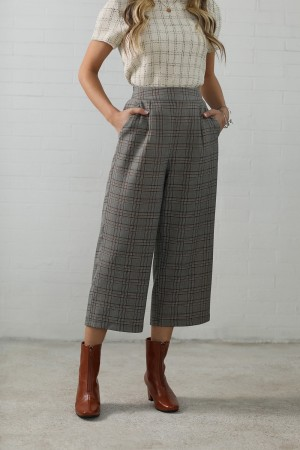 Mocha Polyester Spring/Summer Trousers