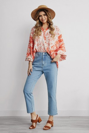 Floral Ruffle Loose Top