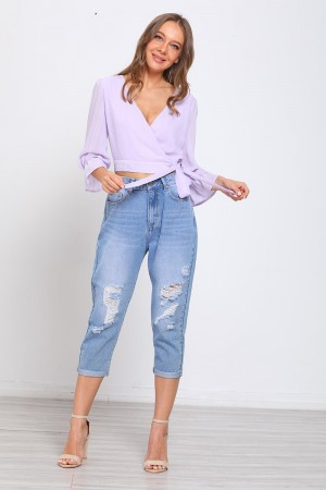 Lilac Layer Tie Side Top