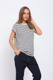 Black Stripe Top